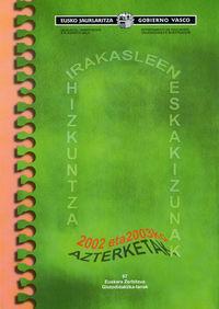 Irakasleen Hizkuntza Eskakizunak 2002-2003 (+cd) - Batzuk