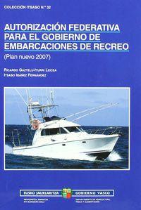 PATRON DE RECREO AUTORIZACION FEDERATIVA EMBAR. DE REC.