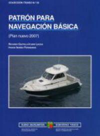 PATRON PARA NAVEGACION BASICA - PLAN NUEVO 2007