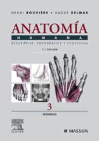 (11 ED) ANATOMIA HUMANA 3 - MIEMBROS