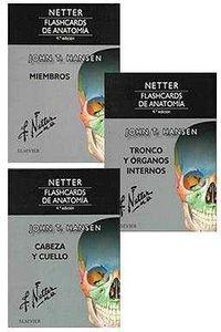 PACK NETTER FLASHCARDS DE ANATOMIA (3 VOLS. )