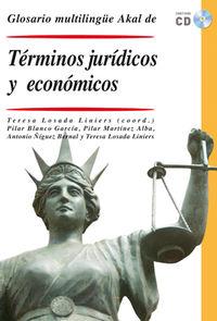 GLOSARIO MULTILINGUE DE TERMINOS JURIDICOS Y ECONOMICOS (+CD)