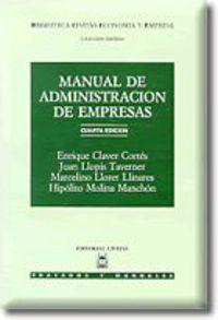 (4 Ed)  Manual De Administracion De Empresas - Enrique Claver Cortes