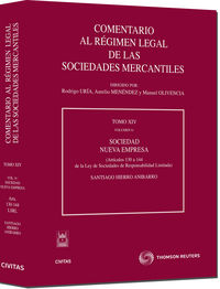 Comentario Regimen Legal Sociedades Mercantiles (tomo Xiv) (vol.6) - Santiago Hierro Anibarro