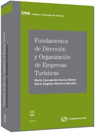 Fundamentos De Direccion Y Organizacion De Empresas Turisticas - Maria Concepcion Garcia Gomez