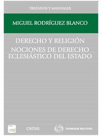 DERECHO Y RELIGION - NOCIONES DE DERECHO ECLESIASTICO DEL ESTADO (DUO)