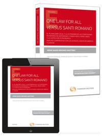 ONE LAW FOR ALL VERSUS SANTI ROMANO (DUO)