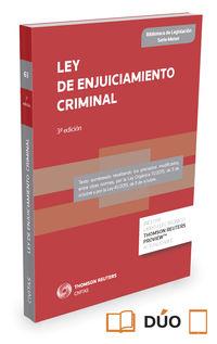 (3 Ed) Ley De Enjuiciamiento Criminal (duo) - Aa. Vv.