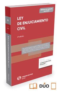(4 Ed) Ley De Enjuiciamiento Civil (duo) - Aa. Vv.