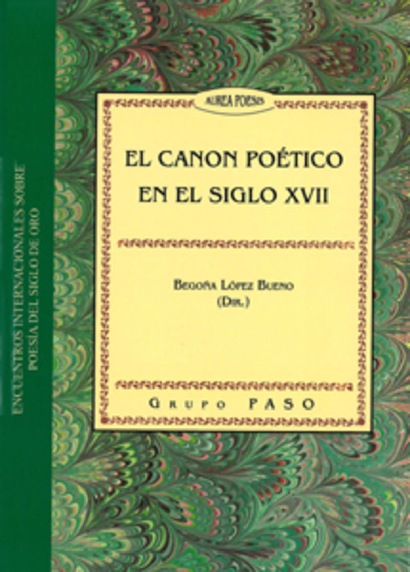 EL CANON POETICO EN EL SIGLO XVII