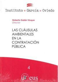 CLAUSULAS AMBIENTALES EN LA CONTRATACION PUBLICA, LAS