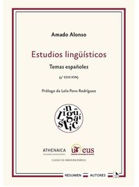 ESTUDIOS LINGUISTICOS - TEMAS ESPAÑOLES