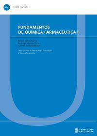 Fundamentos De Quimica Farmaceutica I - Pelayo Camps Garcia / Santiago Vazquez Cruz / Carmen Escolano Miron