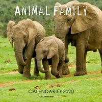 CALENDARIO 2020 - ANIMAL FAMILY (305X305)
