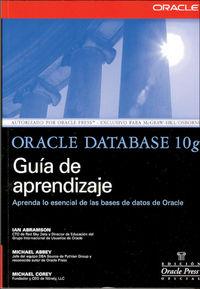 ORACLE DATABASE 10G - GUIA DE APRENDIZAJE