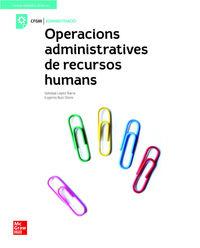 GM - OPERACIONS ADMINISTRATIVES DE RECURSOS HUMANS (CAT)