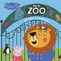 PEPPA PIG - EN EL ZOO (TODO CARTON) - LIBRO CON SOLAPAS