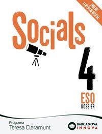 ESO 4 - TERESA CLARAMUNT - SOCIALS (CAT, BAL) - INNOVA