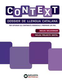 BATX 2 - CONTEXT. DOSSIER LLENGUA CATALANA - PAU