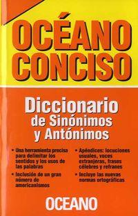DICCIONARIO DE SINONIMOS Y ANTONIMOS - OCEANO CONCISO