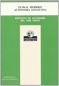 E. H. AUTONOMI ESTATUTOA - ESTATUTO DE AUTONOMIA DEL P. V.