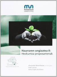 HAURRAREN ONGIZATEA II - HEZKUNTZA PROPOSAMENAK