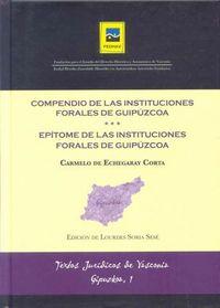 COMPENDIO DE LAS INSTITUCIONES FORALES DE GIPUZKOA