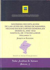 NOVISSIMA RECOPILACION DE LAS LEYES DEL REINO NAVARRA I