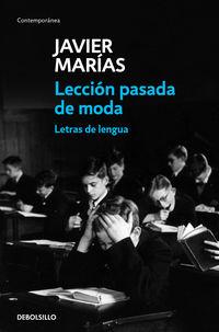 LECCION PASADA DE MODA - LETRAS DE LENGUA