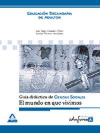 ESA - GUIA DIDACTICA CIENCIAS SOCIALES - EL MUNDO CONTEMPORANEO