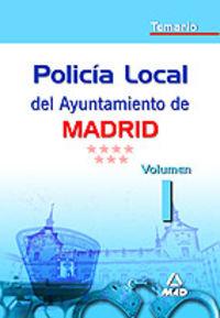 Policia Local Ayto. Madrid Temario I - Aa. Vv.