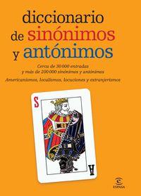 Dicc. De Sinonimos Y Antonimos - Aa. Vv.