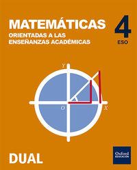 ESO 4 - MATEMATICAS (ACADEMICAS) - INICIA DUAL