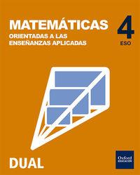 ESO 4 - MATEMATICAS (APLICADAS) (PACK) - INICIA DUAL