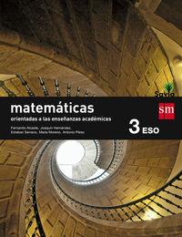 ESO 3 - MATEMATICAS B (ACADEMICAS) - SAVIA