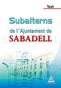 TEST - SUBALTERNS DE L'AJUNTAMENT DE SABADELL