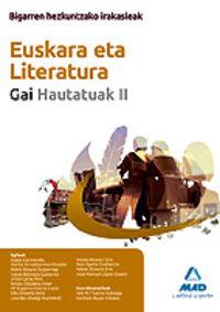EUSKARA ETA LITERATURA II - BIGARREN HEZKUNTZAKO IRAKASLEAK