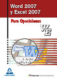 WORD 2007 Y EXCEL 2007 PARA OPOSICIONES