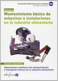 Mantenimiento Basico Maquinas Instalaciones Ind - Alimentaria - Susana Galindo Doblas