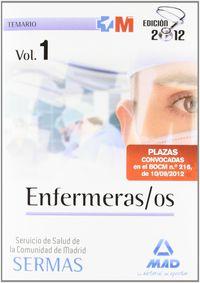 Temario I - Enfermeros / Os Del Servicio Salud De Madrid - Aa. Vv.