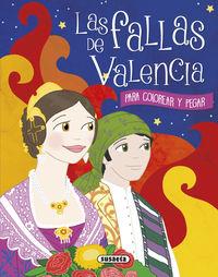Las fallas de valencia para colorear y pegar - Gisela Socolovsky