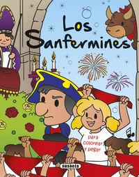 Sanfermines, Los - Para Colorear Y Pegar - Aa. Vv.