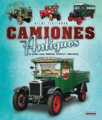 ATLAS ILUSTRADO CAMIONES MUY ANTIGUOS DE GUERRA, CARGA, BOMBEROS, AUTOBUSES Y AMBULACIAS