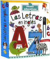 LETRAS EN INGLES, LA - FICHAS EDUCATIVAS