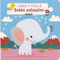 BEBES ANIMALES - LIBRO Y PUZLE