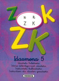 IDAZMENA LANTZEKO KOADERNOAK 5