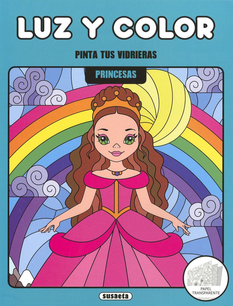 PRINCESAS - PINTA TUS VIDRIERAS