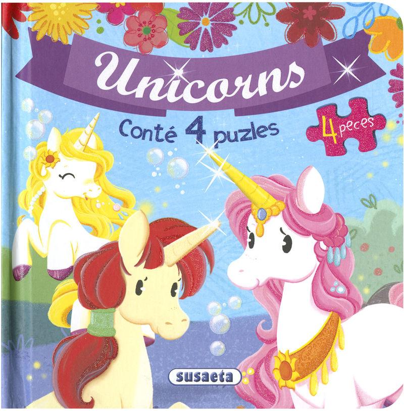 UNICORNS - PUZLES DE 4 PECES UNICORNS (S8133001)