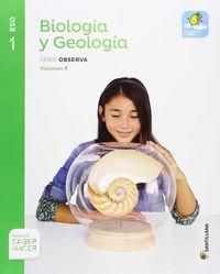 ESO 1 - BIOLOGIA Y GEOLOGIA TRIM - MOCHILA LIGERA OBSERVA - SABER HACER