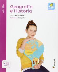 ESO 1 - GEOGRAFIA E HISTORIA TRIM - MOCHILA LIGERA - DESCUBRE - SABER HACER